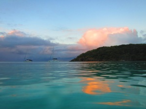Reef bay hike sunrise swim